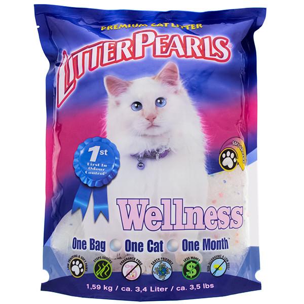 Наповнювач для туалетів кішок Litter Pearls Wellness кварцовий 3,4 л (1,59 кг)