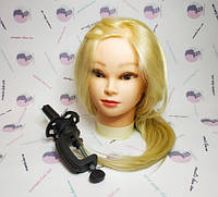 Голова искусственные волосы +30% натуральных волос  белый №618