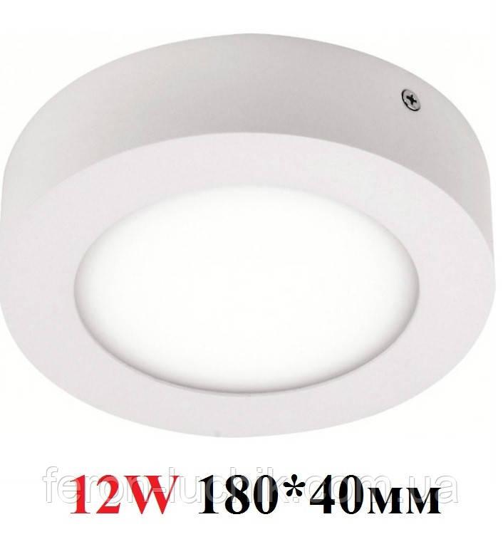 Накладной светильник LED 12W HOROZ 4200K, 6000K CAROLINE-12