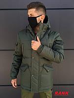 Парка зимняя мужская LC Imperial Khaki куртка мужская хаки удлиненная теплая до -30