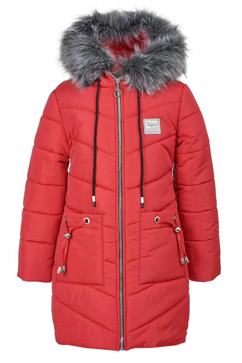 Зимняя куртка розового цвета на девочку 6-10 лет, 2141