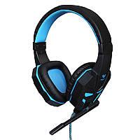 Наушники Aula Prime Gaming Headset Black-Blue, фото 1