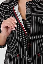 Костюм брючный Идеал Черный полоска Размеры  52, 54, 56, 58., фото 3