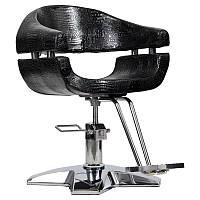 Парикмахерское кресло Gamma черный крокодил, фото 1