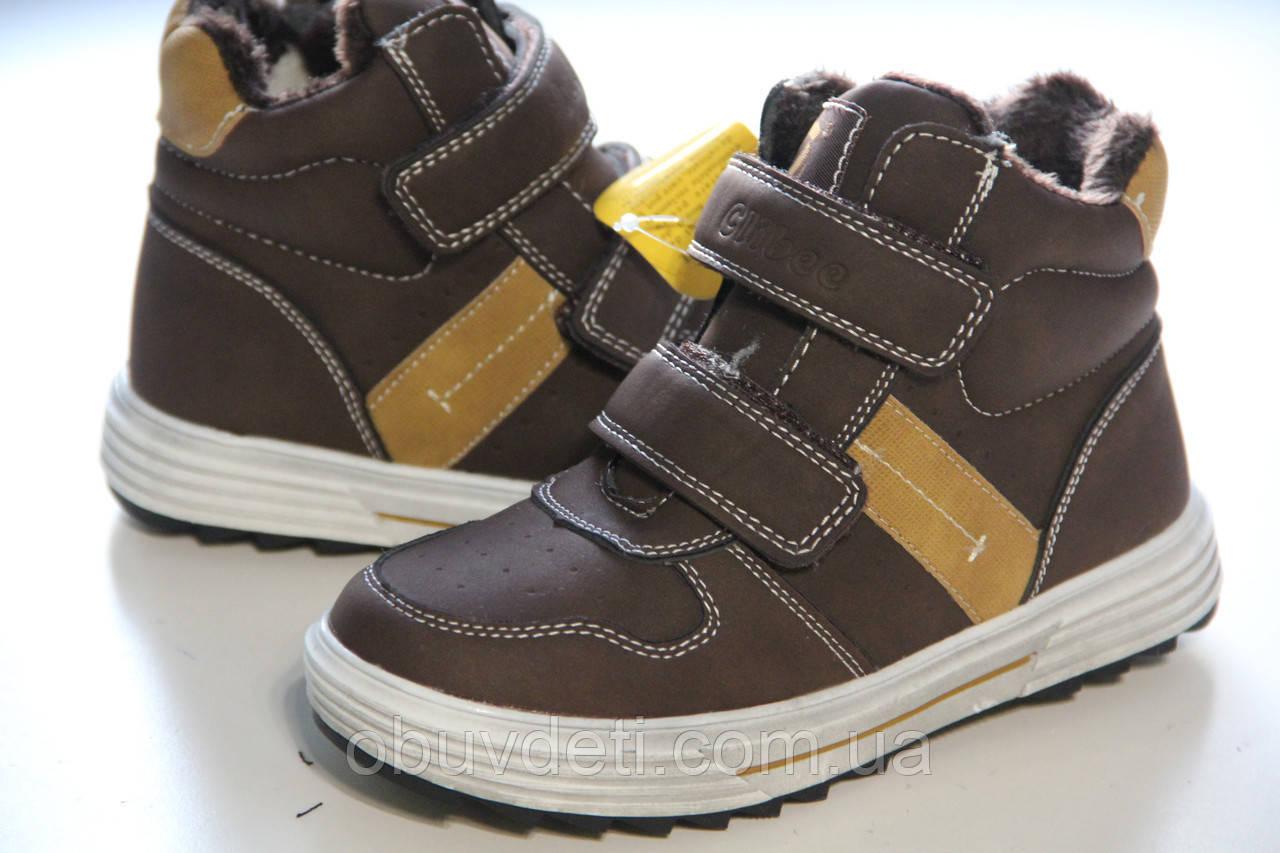 Детские теплые зимние ботинки для мальчика clibee 34 - 22.0 см