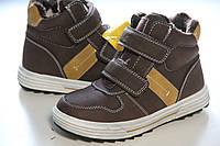 Детские теплые зимние ботинки для мальчика clibee 34 - 22.0 см, фото 1