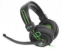 Наушники Maxxter Sonar H2 Black/Green, фото 1