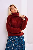Женский вязаный свитер  Stimma Алекс 4246 M Бордовый