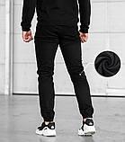 Мужские зимние джоггеры BEZET '20 (Black), утепленные мужские джоггеры, фото 2