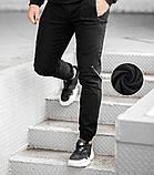 Мужские зимние джоггеры BEZET '20 (Black), утепленные мужские джоггеры, фото 3