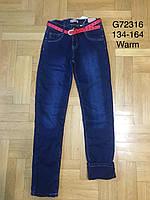 Джинсовые брюки на флисе для девочек Grace 134-164 р.р., фото 1