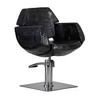 Парикмахерское кресло Imperia черный крокодил, фото 1