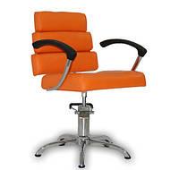 Парикмахерское кресло Italpro оранжевое, фото 1
