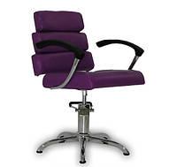 Парикмахерское кресло Italpro фиолетовое, фото 1