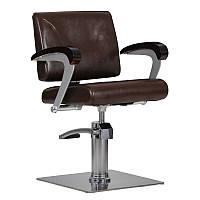 Парикмахерское кресло Kubik коричневое, фото 1