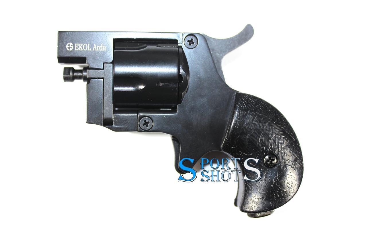 Сигнально шумовой револьвер Ekol Arda Matte Black (8 мм, пистолетный)
