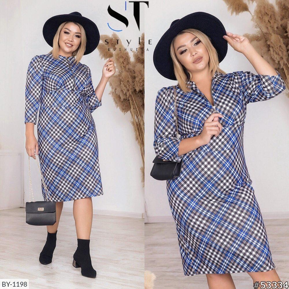 Стильное платье  (размеры 50-56) 0212-79