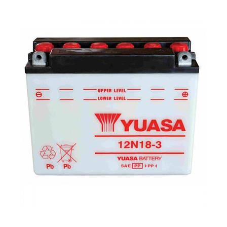 Yuasa 6СТ-18 (12N18-3) Мото аккумулятор, фото 2