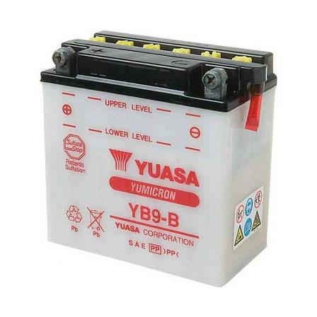 Yuasa 6СТ-9 (YB9-B) Мото аккумулятор, фото 2