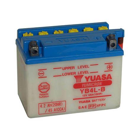 Yuasa 6СТ-4 (YB4L-B) Мото аккумулятор, фото 2