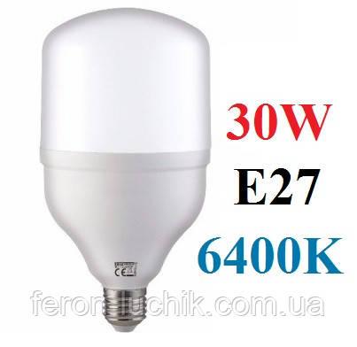 Світлодіодна лампа 30W Е27 6400K промислова HOROZ LED