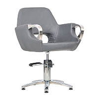 Парикмахерское кресло Mediolan Steel графитовый крокодил, фото 1