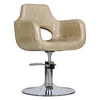Парикмахерское кресло Mediolan золотой крокодил, фото 1