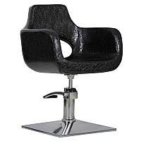 Парикмахерское кресло Mediolan черный крокодил, фото 1