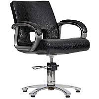 Парикмахерское кресло Milano черный крокодил, фото 1