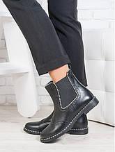 Ботинки Челси кожа бусинка 6695-28
