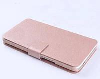 Чехол книжка для Lenovo A820 c шелковистой фактурой цвет крем-сливки, фото 1
