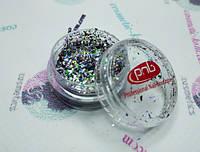 Блеск для дизайна PNB №02 Диско,5гр., Disco Sparks, 05гр.
