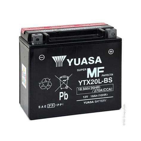 Yuasa 6СТ-18 (YTX20L-BS) Мото аккумулятор, фото 2