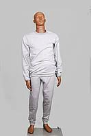 Белье мужское зимнее трикотаж 100% хб цвет серый р.52