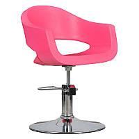 Парикмахерское кресло Prato розовое, фото 1