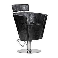 Парикмахерское кресло Prima черный крокодил, фото 1