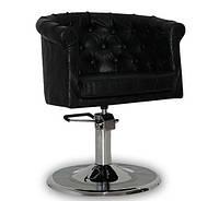 Парикмахерское кресло Rimini  черное, фото 1