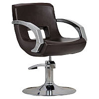 Парикмахерское кресло Roma коричневое, фото 1