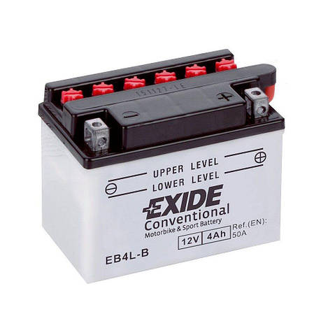 EXIDE 6СТ-4 АзE EB4L-B Мото аккумулятор, фото 2