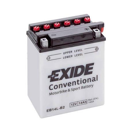 EXIDE 6СТ-14 АзЕ (EB14L-B2) Мото аккумулятор, фото 2