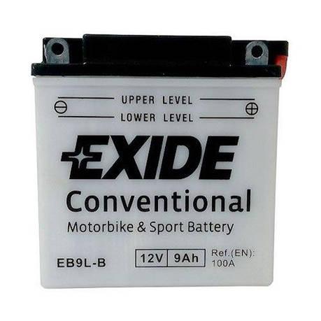 EXIDE 6СТ-9 АзЕ (EB9L-B) Мото аккумулятор, фото 2