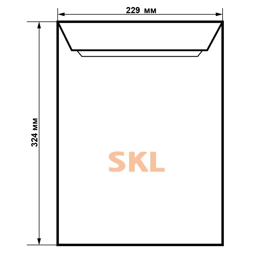 Почтовый конверт С4 SKL, 229 х 324 мм, от  1 шт