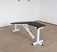 Лавка з від'ємним кутом (до 250 кг) + Стійки під штангу з страховкою (до 200 кг), фото 7
