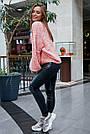 Женский свитер персиковый нарядный, р.42-48, вязка, фото 5