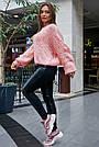 Женский свитер персиковый нарядный, р.42-48, вязка, фото 6