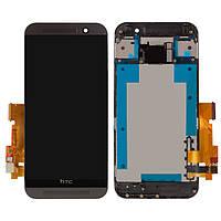 Дисплейный модуль (дисплей и сенсор) для HTC One M9, черный, с передней панелью