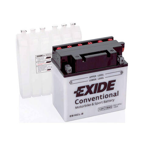 EXIDE 6СТ-19АзЕ (EB16CL-B) Мото аккумулятор, фото 2
