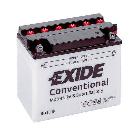 EXIDE 6СТ-19Аз (EB16-B) Мото аккумулятор, фото 2