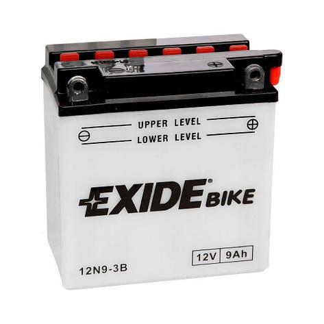 EXIDE 6СТ-9АзЕ (12N9-3B) Мото аккумулятор, фото 2