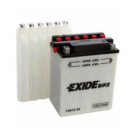EXIDE 6СТ-14АзЕ (12N14-3A) Мото аккумулятор, фото 2